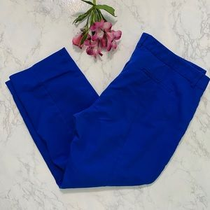 Express blue columnist stretch ankle pants 18